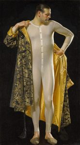 Man in Long Underwear, J.C. Leyendecker, circa 1920, oil on canvas