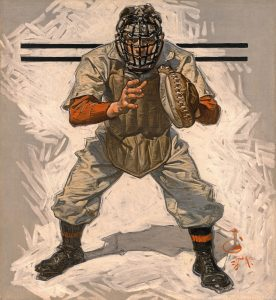 Baseball Catcher, J. C. Leyendecker, circa 1909, oil on canvas