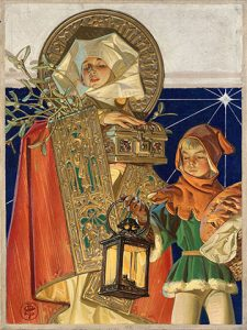 Medieval Merry Christmas, J.C. Leyendecker, circa 1926, oil on canvas